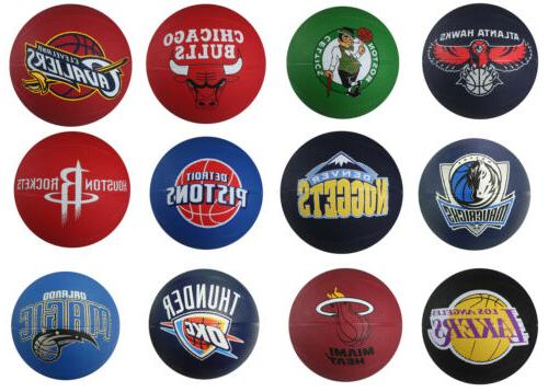 nba mini primary team outdoor rubber basketball