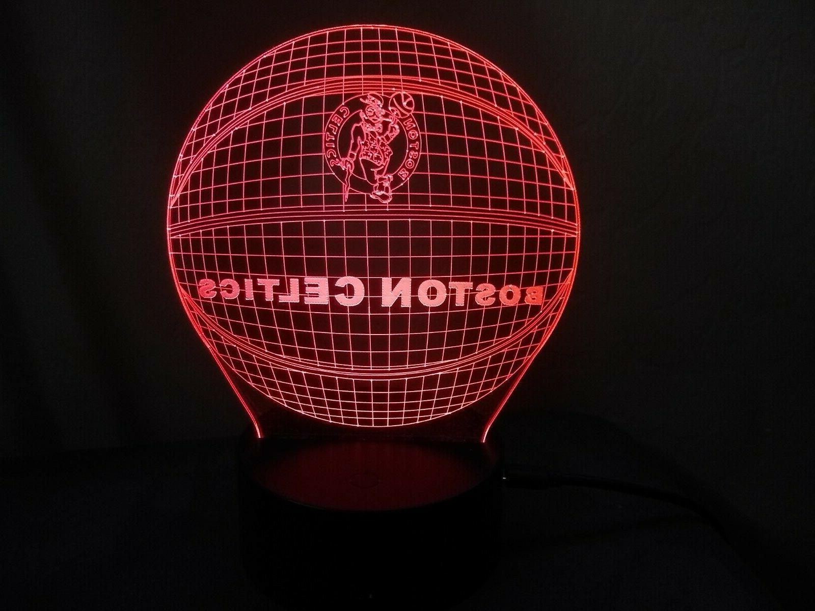 New Boston Celtics Multi Color LED Lamp / Night / Man Cave