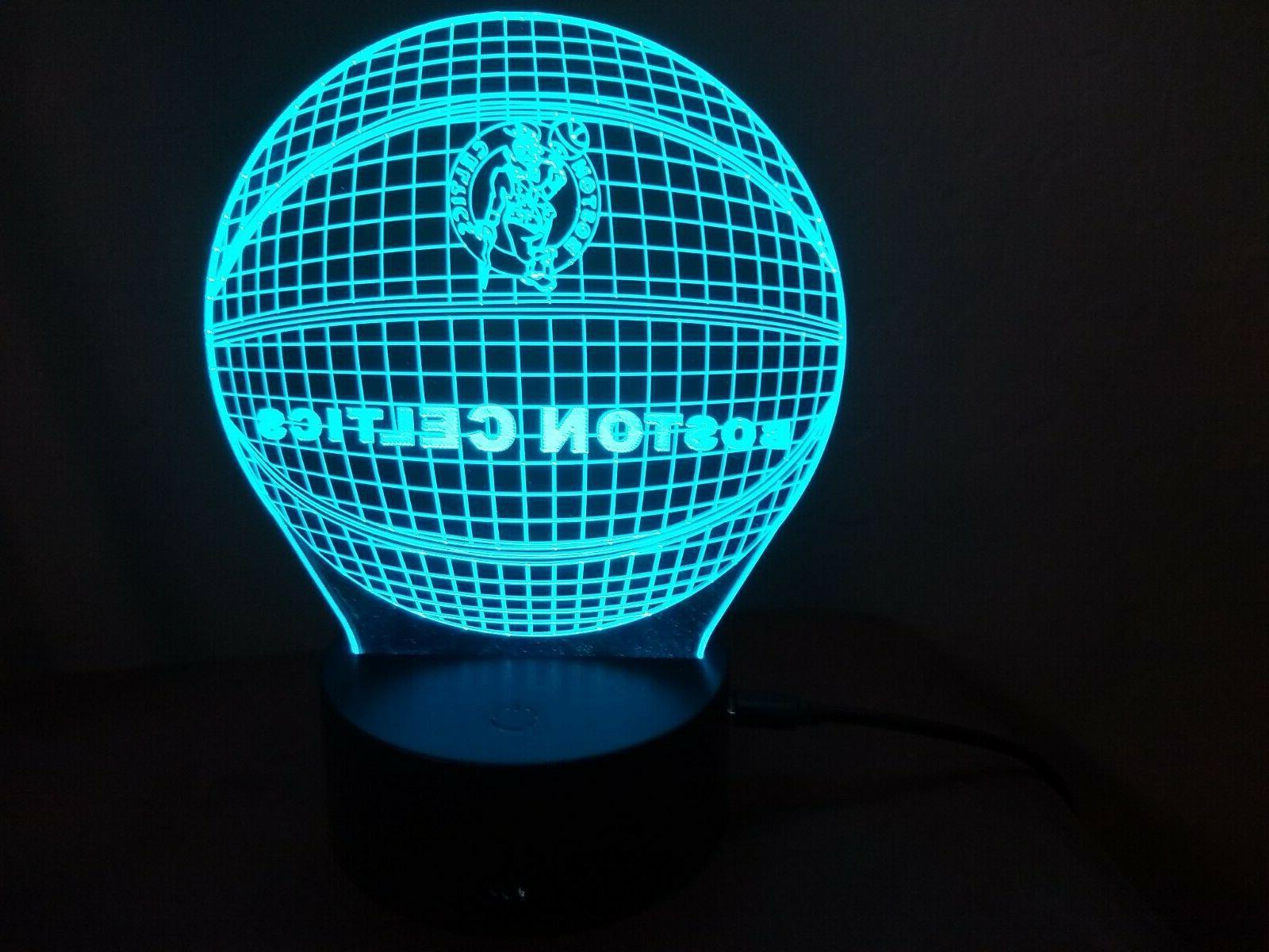 New Celtics Color LED Lamp Light / Man