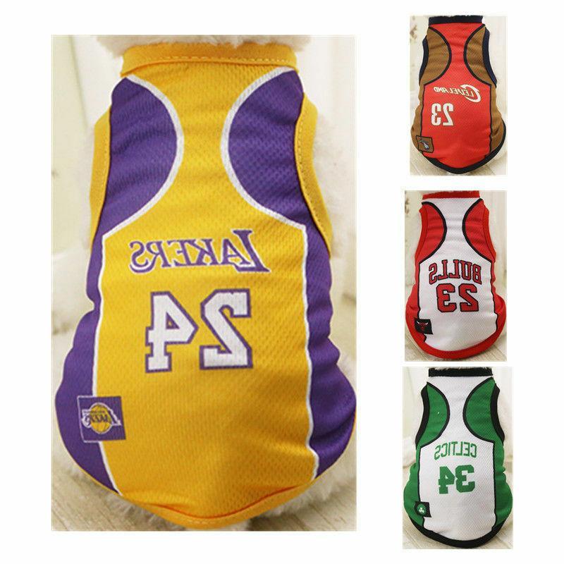 new dog basketball jersey team vest puppy