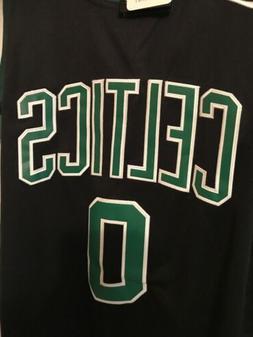 Men's Boston Celtics Jayson Tatum #0 Black Jersey S 44