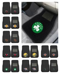 NBA - 2-piece Embroidered Car Mats Basketball Team Logo 18""