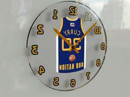 "NBA BASKETBALL JERSEY THEMED WALL CLOCKS - 12"" x 12"" x 2"" -"