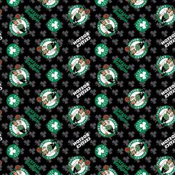 NBA BOSTON CELTICS ALL OVER COTTON FABRIC MATERIAL, Fabric S
