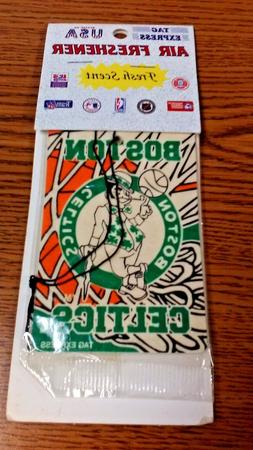 "NBA BOSTON CELTICS CAR AIR FRESHENER "" FRESH SCENT "" NIP GRE"
