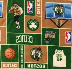 NBA Boston Celtics Fleece Fabric 3 Lge Piece - 60x28, 60x86