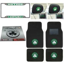 NBA Boston Celtics Floor Mats License Plate Frame Headrest C
