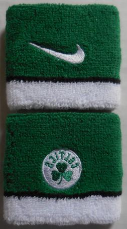 NIKE NBA Boston Celtics Team Wristbands Clover/White 1 Pair