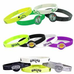 NBA bracelet rubber wrist fan band 4 PACK silicone PICK YOUR