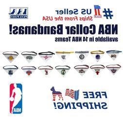 Pets First NBA Collar Bandana - Licensed, Adjustable, Reflec
