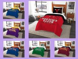 NBA Licensed 2 Piece Twin Comforter & Sham Bed Set In A Bag