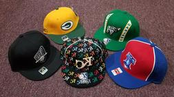 NBA NFL MLB Fitted Baseball Caps, Size 7-3/8, Reebok and New