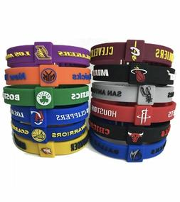 NBA Silicone Wristband Adjustable Clasp Bracelet