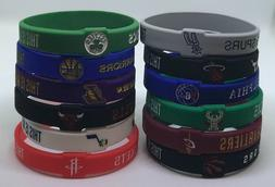 NBA Silicone Wristband Bracelet Cavs Warriors Celtics LA Jaz