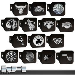 "NBA Teams Basketball Chrome Metal 3D Logo 2"" Black Trailer H"