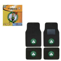 New 5pc NBA Boston Celtics Car Truck Floor Mats & Metal Colo