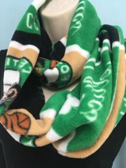 New Boston Celtics Fleece Infinity Scarf Handmade Sewn Doubl