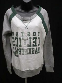 New Boston Celtics Womens Size M/L/XL White Sweater MSRP $55