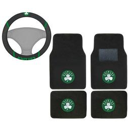 New NBA Boston Celtics Car Truck Carpet Floor Mats & Steerin