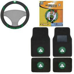 New NBA Boston Celtics Car Truck Floor Mats Steering Wheel C