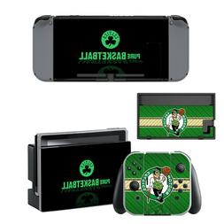 NINTENDO SWITCH - Boston Celtics - Vinyl Skin Sticker + 2 Jo