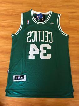 NWT Paul Pierce #34 Boston Celtics Green Swingman Jersey Men
