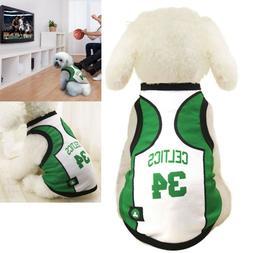 Pet Dog Celtics Pierce Jersey Irving Basketball Vest Custome