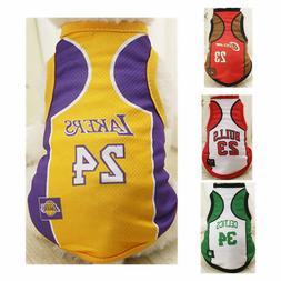 New! Dog Basketball Jersey Team Vest Puppy Summer Clothes Pe