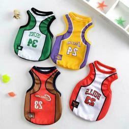 Pet Dog James Laker Bulls Basketball Jersey Puppy Clothes Be