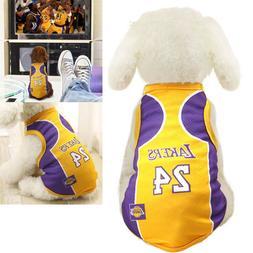 Pet Puppy Dog Clothes Tee Shirt Vest Sport Jersey Basketball