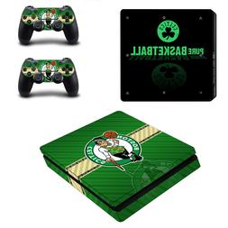 PS4 SLIM - Boston Celtics - Vinyl Skin Set + 2 Controller Sk