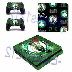 PS4 Slim Console Skin Decals NBA Boston Celtics Vinyl  Stick