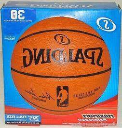 "Spalding Replica 29.5"" Full Size NBA Game Basketball Inflate"