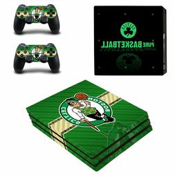 SONY PS4 PRO - Boston Celtics - Vinyl Skin Set + 2 Controlle