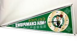 Vintage Boston Celtics NBA Champions Pennant Wall Clock - Ne