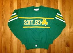 vintage cliff engle boston celtics sweater mens size large d