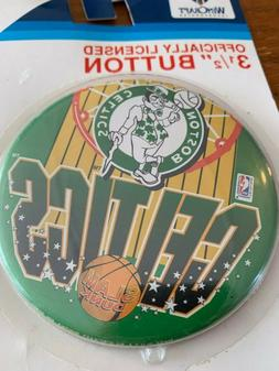 "Vintage NBA Boston Celtics 3 1/2"" Button WINCRAFT NEW IN CAS"