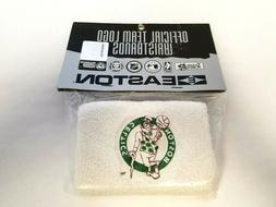 "Vtg Easton Boston Celtics NBA Team Logo 4"" Wristbands Sweatb"